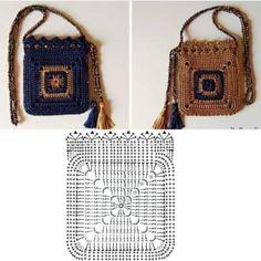 The prettiest crochet purse free pattern and tutorial – ArtofitImage gallery – Page 634866878701158046 – ArtofitCrochet Pretty Handbag with Gr - Salvabrani Diy Crochet Bag, Crotchet Bags, Crochet Pouch, Crochet Chart, Knitted Bags, Cute Crochet, Crochet Stitches, Crochet Hooks, Crochet Handbags