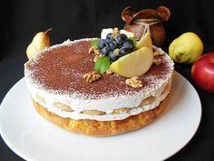 Prajitura cu mere caramelizate, piscoturi si crema cu mascarpone - imagine 1 mare