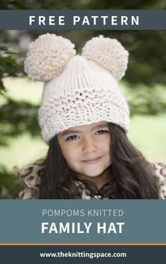 You'll love this perky knitted hat with double pompom top. Available in a range of sizes, this hat will make a lovely matching set for everyone in the family. Craft it with the same cream color or choose your family's favorite shade. | Discover over 4,500 free knitting patterns at theknittingspace.com #knitpatternsfree #winterknittingprojects #winterknittingpatterns #fallknittingprojects #fallknittingpatterns #giftideas #accessory #headwear Easy Knitting Projects, Knitting For Kids, Free Knitting, Baby Knitting, Diy Projects, Easy Knit Hat, Knitted Hats, Crochet Hats, Free Crochet