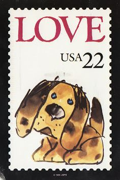 USPS Love stamp was perfect for anyone with a serious case of puppy love. Jim Henson & Rowlf The Dog hosted the stamp's issue ceremony in New York City. Old Stamps, Vintage Stamps, Postage Stamp Design, Commemorative Stamps, Envelope Art, My Stamp, Stamp Collecting, Post Card, Coins