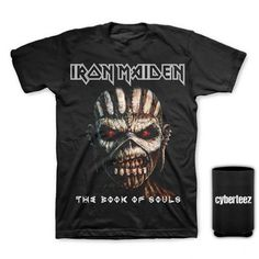 Iron Maiden Book Of Souls Men's T-Shirt + Coolie (L)