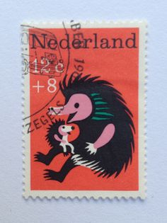 1967 | Wim Bijmoer | rood, zwart | stekelvarken