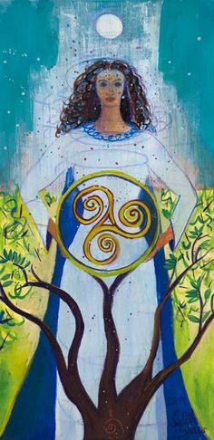 Small Print Goddess Art - Danu, Celtic Mother Goddess -  $25  - 10% of for whole month of January plus free shipping - on check out enter promo code LOVE10
