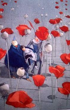 Lisbeth Zwerger  - Poppy Field in Wizard of Oz  via: childillustration.blogspot.com