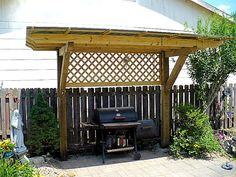 """Pergola Over Grill 