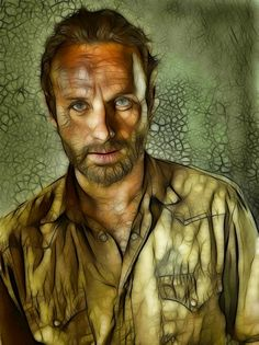 A re-edited Walking Dead promo photo featuring Rick, incorporating a combined HDR and Fractalius effect. The Walking Dead: Rick: Fractalius Re-Edit Walking Dead Clothes, Walking Dead Series, Fear The Walking Dead, Dead Zombie, Great Tv Shows, Dead Inside, Stuff And Thangs, Rick Grimes, Comic Book Covers