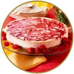 The Original Guilt-Free NY Style Strawberry Swirled Cheesecake - No Sugar Added, Gluten Free Low Calorie, Kosher Dairy Swe...
