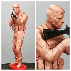 BOPE. Escultura feita em clay Chavant Hard.