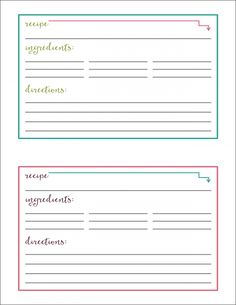 Large Purple Polka Dots Recipe Card  Printable Recipe Cards