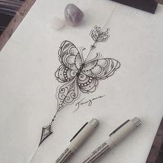 377 Likes, 16 Comments - Taizane ☆Tai☆ ( - Tattoos Life Arrow Tattoos, Back Tattoos, Body Art Tattoos, New Tattoos, Tatoos, Diy Tattoo, Tattoo Henna, Tattoo Ideas, Underboob Tattoo