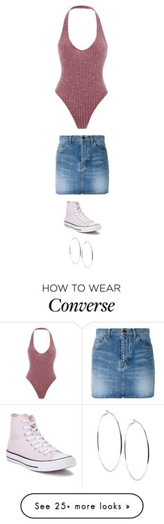 """Untitled #5644"" by twerkinonmaz on Polyvore featuring Yves Saint Laurent, Converse and GUESS"