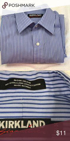 Kirkland Men's Long sleeve shirt Excellent and easy care Shirts Dress Shirts