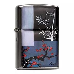 Mother of Pearl Handmade Luxury Red Plum Flower Chrysanthemum Bamboo Orchid Design Flip Top Windproof Metal Chrome Pocket Oil Cigarette Tobacco Smoking Camping Zippo Lighter