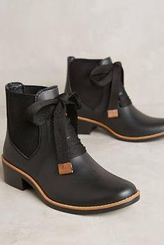 waterproof black rain boots - chelsea boots
