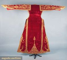 Ottoman Style Velvet Coat, Late 19th C, Augusta Auctions, April 2009 Vintage Fashion and Textile Auction, Lot 56