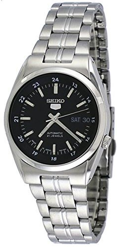 SEIKO Mens Watch SNK567J1 Silver Black ** Want to know more, click on the image.