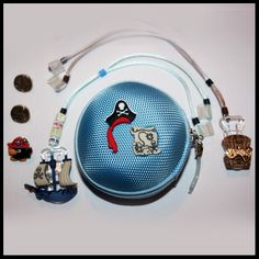 Pirates personalised children's hearing aid/cochlear implant accessories package