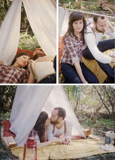 Camping Trip Engagement