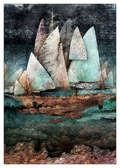 2007Maciej Zielinski(Polish, 1971) ~Under Full Sail