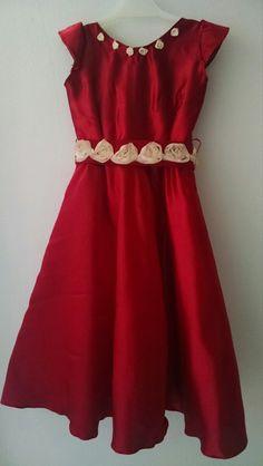 Vestido Rojo Largo Para Nena De 2a3 Años Nuevo!! - $ 400,00 en MercadoLibre Formal Dresses, Outfits, Fashion, Long Red Dresses, Dress Red, Long Party Dresses, Dots, Style, Dresses For Formal