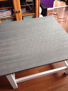 Ikea Hemnes salontafel geverfd met Deco verf van de Action
