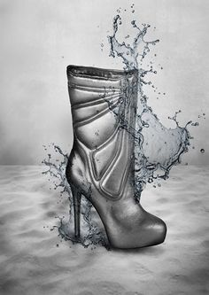 F/W 2014/15 #shoes #fashion #heels #design #leather #embossed #water #boots