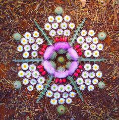 Kathy Klein's Intricate, Multi-Textured Floral Mandalas