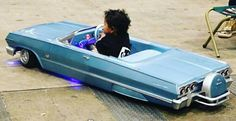 Chevy Impala with continental kit Chica Chola, Kids Garage, Lowrider Bike, Kids Ride On, Pedal Cars, Cute Cars, Small Cars, Vintage Bikes, Chevrolet Impala