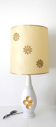 Vintage Mid Century Table Lamp and Shade Off by MissBettysAttic