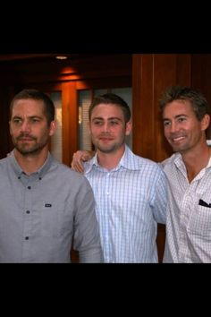 Paul Walker with his brothers