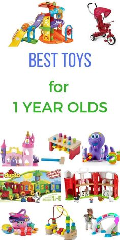 best toys for one year olds. 2 of the best toddler toys for  1 year old. Lots of great toy suggestions and gift ideas for 1 year olds