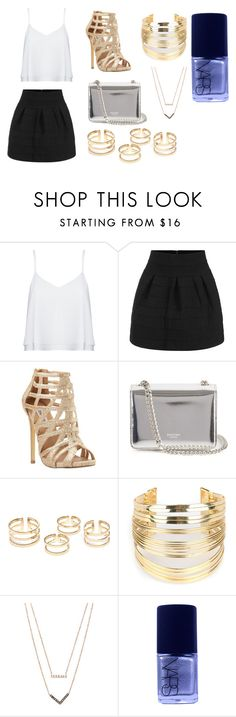 """""""Gold is a Girls Best Friend"""" by marygmoney on Polyvore featuring Alice + Olivia, Steve Madden, Rochas, WithChic, Michael Kors, NARS Cosmetics, women's clothing, women's fashion, women and female"""