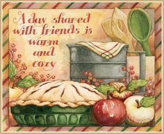 Discover thousands of images about The Warmth of Friends pieces) 2015 Wallpaper, Calendar Wallpaper, Decoupage Vintage, Decoupage Paper, Food Illustrations, Illustration Art, Country Paintings, Country Art, Kitchen Art