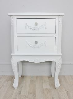 French antique furniture styles guide pt 1 pinterest rococo shabby chic white french style bedside table or chest sophie watchthetrailerfo