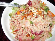 Warm Beet & Broccoli Couscous Salad    http://cookincrafts.blogspot.com/2011/12/1-12-cups-cooked-couscous-4-small-green.html