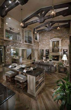 dark ceiling beams (craftsman style home)