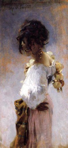 Rosina Ferrara by John Singer Sargent #art #painting