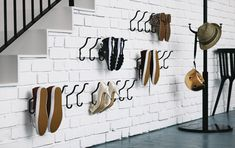Shoe storage hook solution