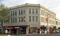 Thomas Battle designed building in Wanganui, New Zealand. Built in Finished in varying strenghts of Resene Napa (grey beige neutral). South Pacific, Pacific Ocean, State Of Arizona, Paint Companies, Paint Chips, Back In Time, British Isles, Beige, Grey