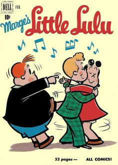[L foot > T arm] =/= Cut In on Marge's Little Lulu 1951 comic book Old Comic Books, Vintage Comic Books, Vintage Comics, Comic Book Covers, Comic Book Characters, Vintage Magazines, Old Cartoons, Classic Cartoons, Old Comics