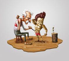 Mais uma ilustração 2d DasCavernas. #VemPrasCavernas