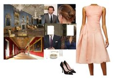 """The Official Engagement Interview of Prince David of Wales and Miss Madeleine Montgomery"" by pacqueline-ngoya ❤ liked on Polyvore featuring Pamella Roland, Miu Miu, Shaun Leane and URiBE"