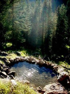 Been here before, always enjoy going back.  Short hike up the mountain and then there are two levels of the hot springs.  One right above the other. The magical San Antonio Hot Springs - Santa Fe National Forest - outside of Jemez Springs in New Mexico.