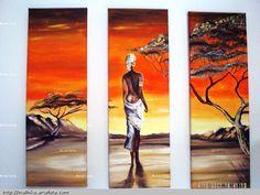 Resultado de imagen de cuadros de paisajes de africa