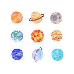 Cute Planets Tumblr Pics about Space ❤ liked on Polyvore featuring fillers and backgrounds