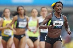 Alysia Montano wears a flower behind her ear in every race. She started when she was young to remind boys that they were being beaten by a girl. Olympic Track And Field, Olympic Runners, Thinspiration, Strong Women, Role Models, Olympics, Bikinis, Swimwear, Bikini