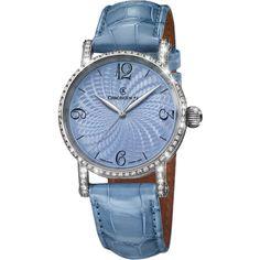 Chronoswiss Sirius Artist Diamonds Steel CH-2823FPE-LB Latest Watches, Diamonds, Steel, Pearls, Lady, Artist, Blue, Accessories, Anonymous