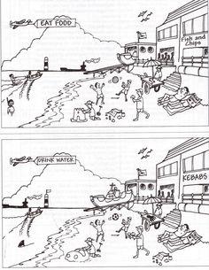 Por la playa- encuentra las diferencias