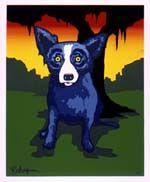 """Dawn of a New Love"",2001--Blue Dog--George Rodrigue"
