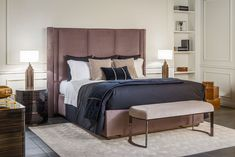 Nightstands, beds, side tables, cabinets or armchairs are some of the luxury bedroom furniture tips that you can find. Every detail matters when we are decorating our master bedroom, right? Luxury Bedroom Furniture, Master Bedroom Interior, Bedding Master Bedroom, Furniture Design, Bedroom Decor, Furniture Ideas, Bedroom Ideas, Interior Design Studio, Luxury Interior Design